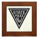 New Jersey State Police Framed Tile