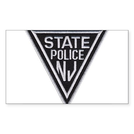New Jersey State Police Rectangle Sticker
