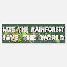 Save The Rainforest Bumpersticker