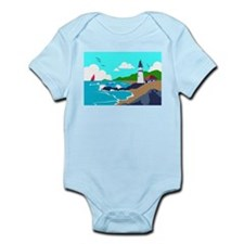 Lighthouse on the Rocky Coast Body Suit