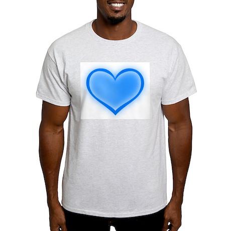 Blue Heart Ash Grey T-Shirt