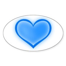 Blue Heart Oval Decal