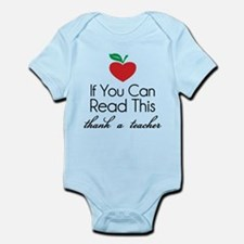 If you can read this thank a teacher Infant Bodysu