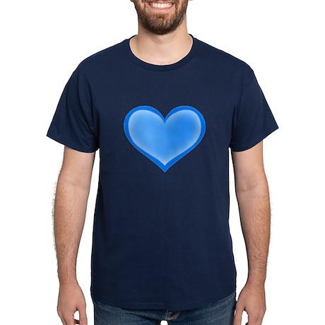 Blue Heart Dark T-Shirt