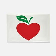 Apple heart Rectangle Magnet