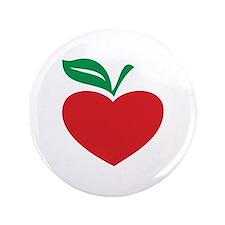 """Apple heart 3.5"""" Button"""