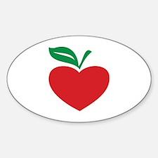 Apple heart Sticker (Oval)