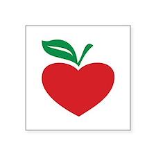 """Apple heart Square Sticker 3"""" x 3"""""""