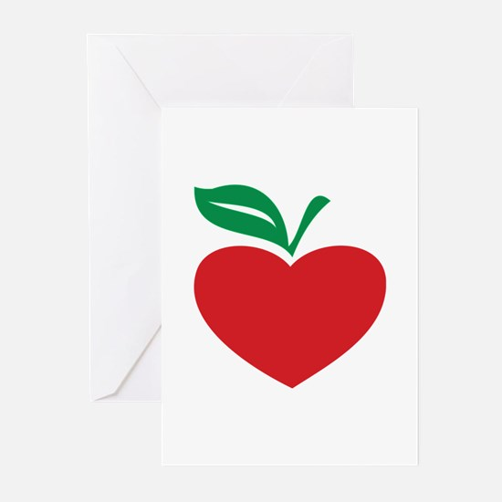 Apple heart Greeting Cards (Pk of 20)