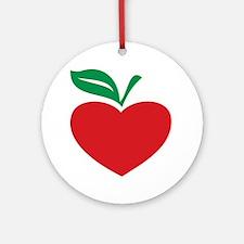 Apple heart Ornament (Round)