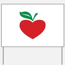 Apple heart Yard Sign