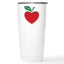 Apple heart Travel Mug