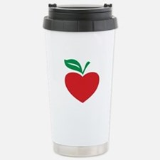 Apple heart Travel Mug