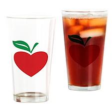Apple heart Drinking Glass
