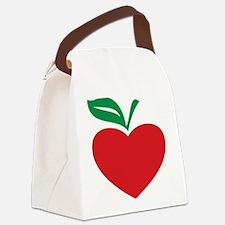 Apple heart Canvas Lunch Bag