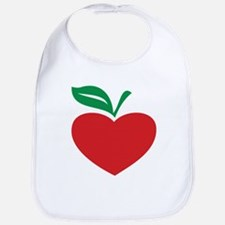 Apple heart Bib