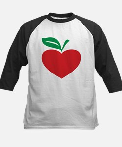 Apple heart Kids Baseball Jersey