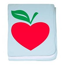 Apple heart baby blanket