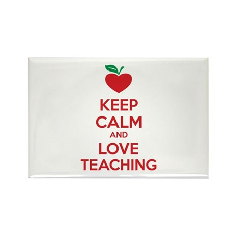 Keep calm and love teaching Rectangle Magnet