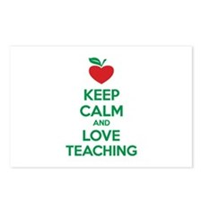 Keep calm and love teaching Postcards (Package of