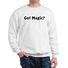 Got Magic? Bright Stars on Black Sweatshirt
