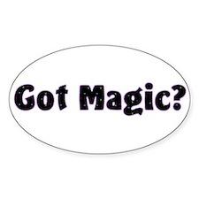 Got Magic? Bright Stars on Black Oval Decal