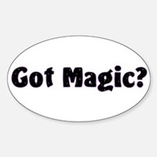 Got Magic? Bright Stars on Black Oval Decal
