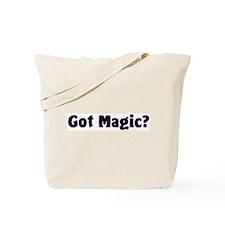 Got Magic? Bright Stars on Black Tote Bag