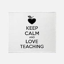 Keep calm and love teaching Stadium Blanket
