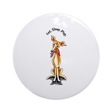 Italian Greyhound Motto Ornament (Round)