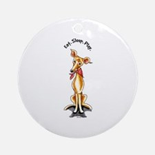 Italian Greyhound Motto Ornament (Round)