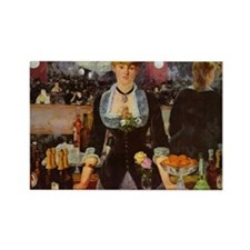Manet Girl Bartender Rectangle Magnet