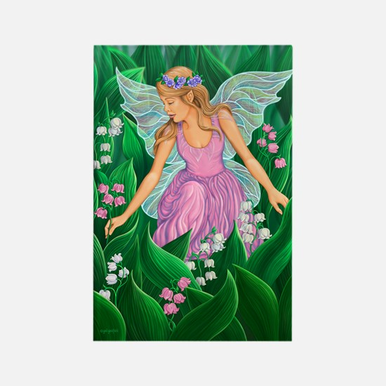 Spring Fairy Rectangle Magnet