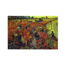 Van Gogh Red Vines Rectangle Magnet