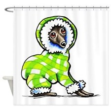 Italian Greyhound Snowsuit Shower Curtain