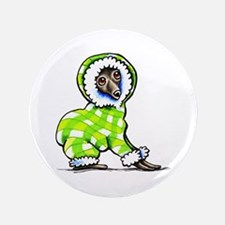 "Italian Greyhound Snowsuit 3.5"" Button"