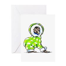 Italian Greyhound Snowsuit Greeting Card