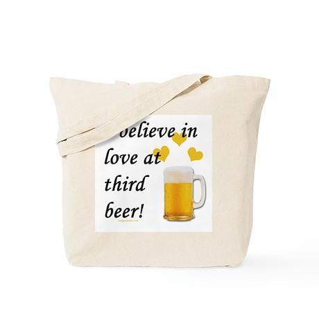 Love at third beer Tote Bag