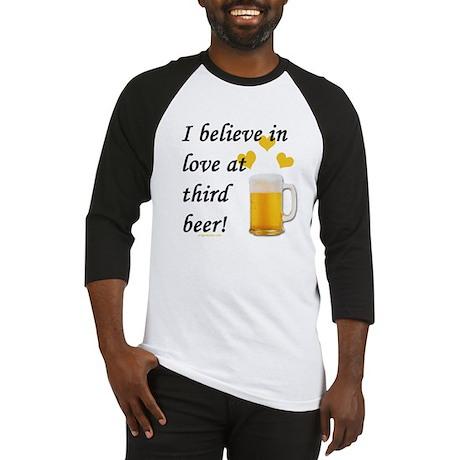 Love at third beer Baseball Jersey