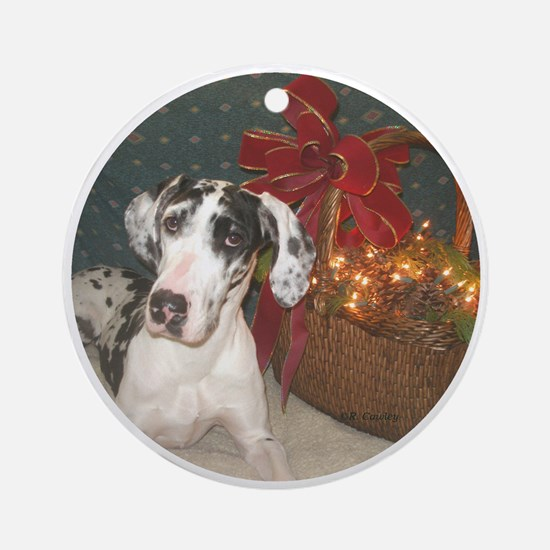 N Harl Holiday Basket Ornament (Round)