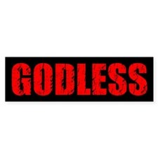 Godless Bumper Bumper Sticker