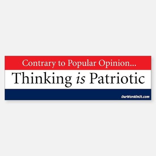 Bumper Sticker: Opinion Thinking