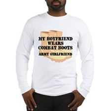 Army Girlfriend Desert Combat Boots Long Sleeve T-