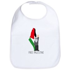 Free Palestine with map of pa Bib