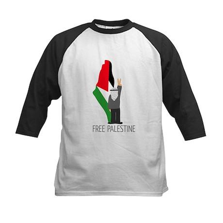 Free Palestine with map of pa Kids Baseball Jersey