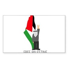 Free Palestine with map of pa Sticker (Rectangular