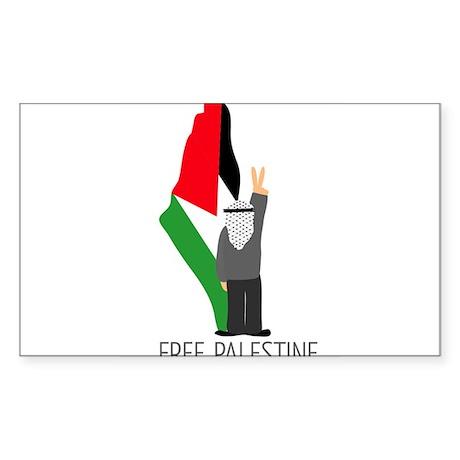 www.palestine-shirts.com Sticker (Rectangle)