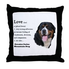 Greater Swiss Mtn Dog Throw Pillow