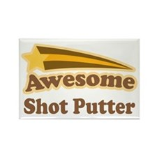 Awesome Shot Putter Rectangle Magnet