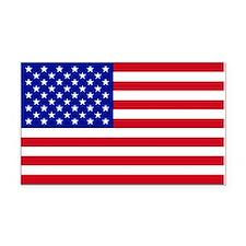 American Flag Rectangle Car Magnet